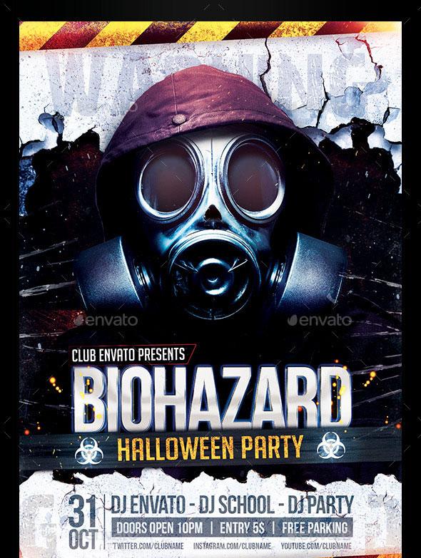 Horror & Biohazard Halloween Party Flyers