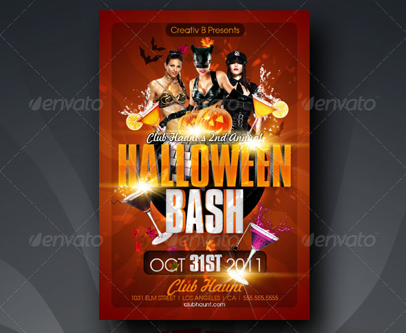halloween bash flyer templates - Free Halloween Flyer Templates