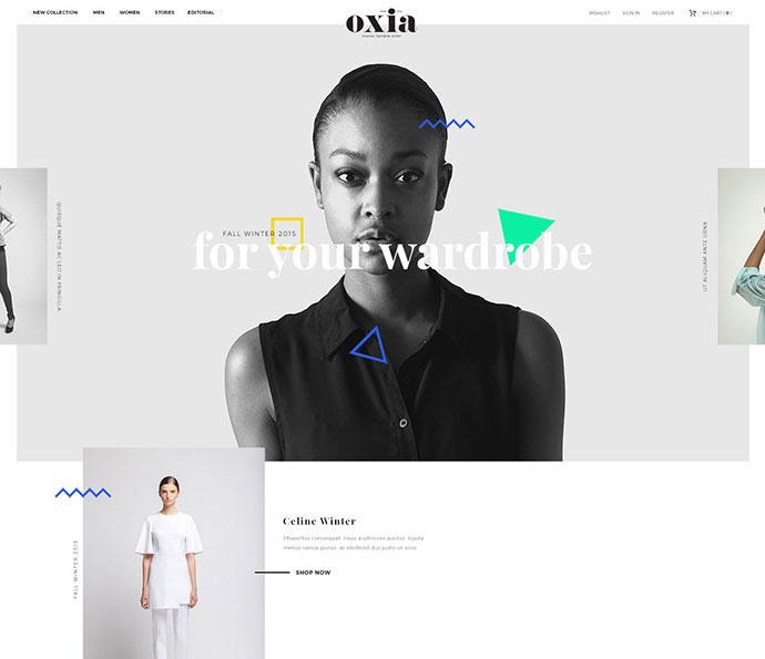 oxia fashion web project