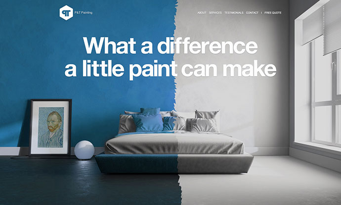 Painting company website