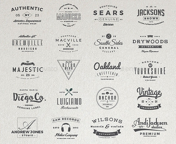 130 Vintage Logos Bundle Vol.3