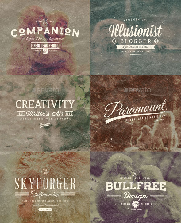 33 Trendy Retro Vintage Insignias Bundle Volume 3