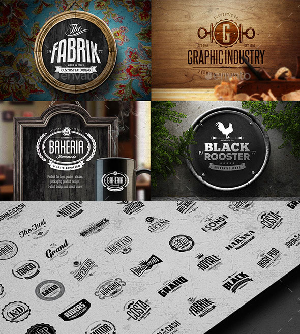 60 Badges & Logos Collection