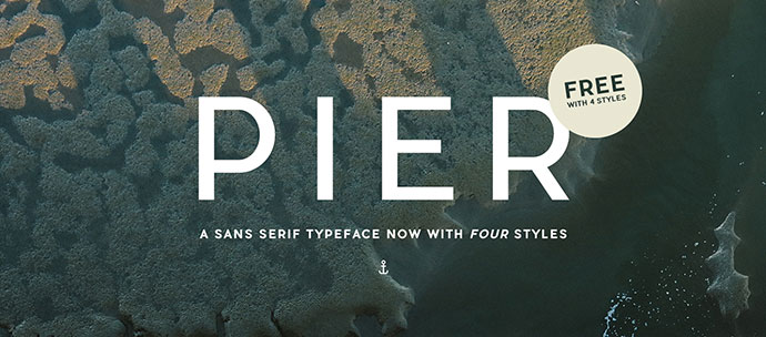 Pier is a modern and structured typography
