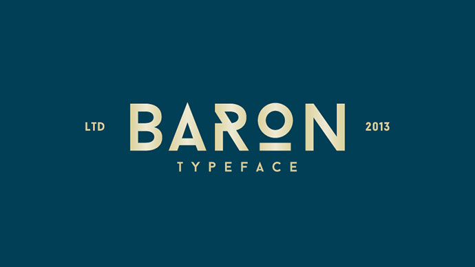 Baron is an uppercase display typeface inspired by the classic sans serif font