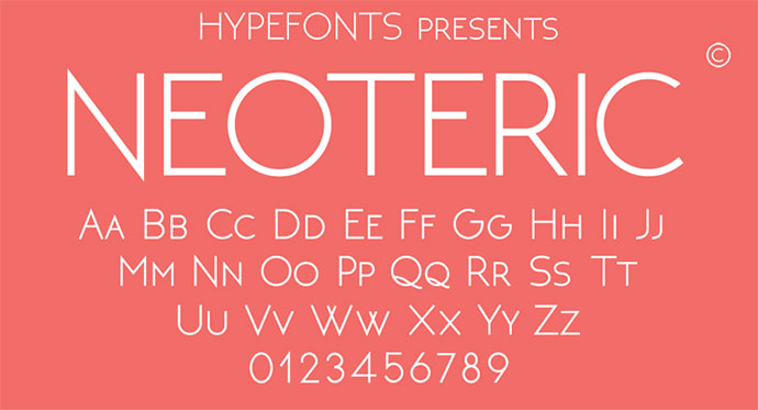 neoteric font