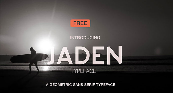 Jaden is a free bold geometric sans
