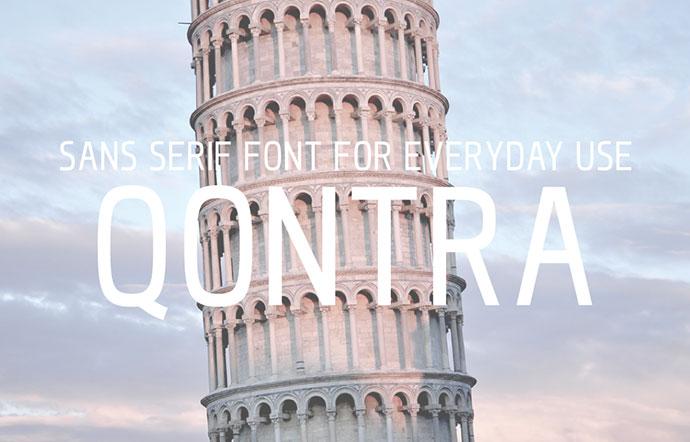 FREE QONTRA Font