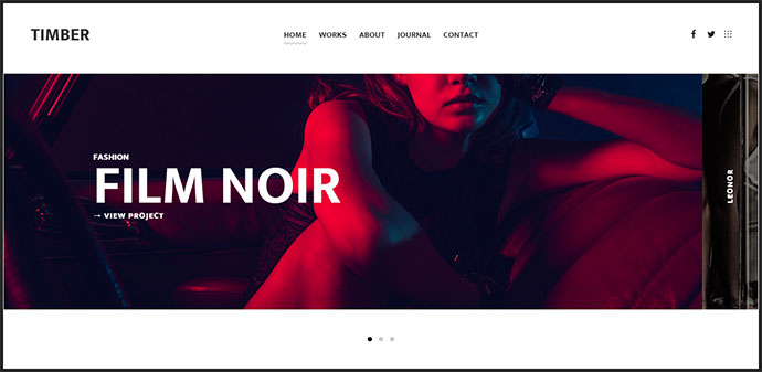 An Unusual Photography WordPress Theme