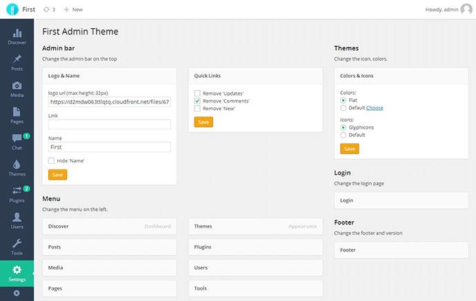 first admin theme
