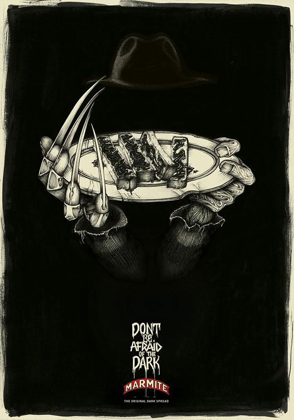 Marmite Halloween Poster Illustrations