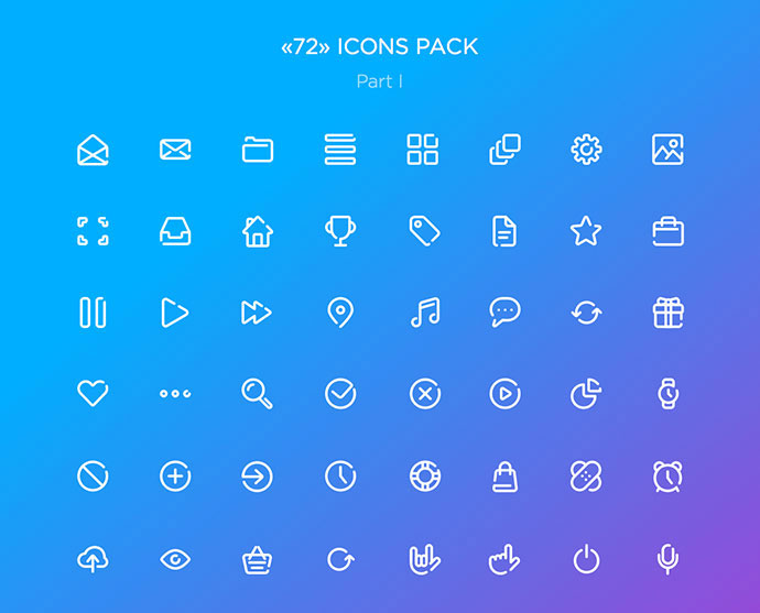 «72 ICONS» FREE SET. PART I