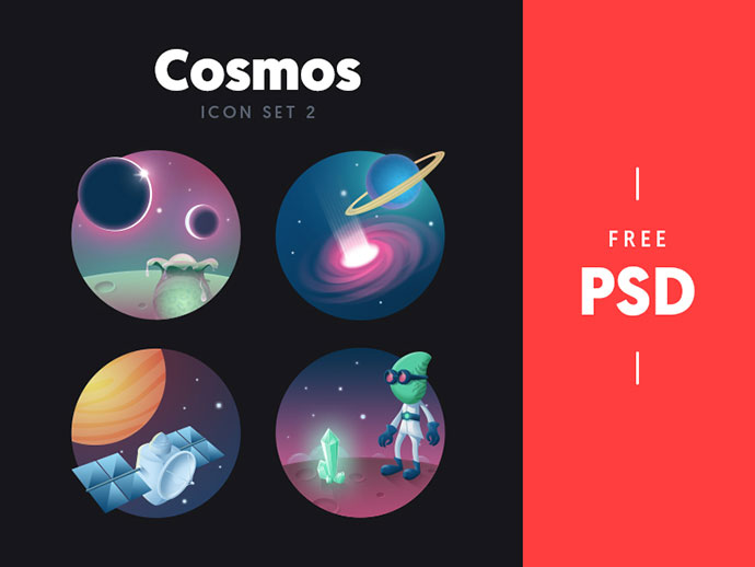 Cosmos - free icon set 2