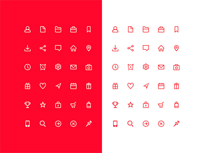 30 Free Icons from Shakuro