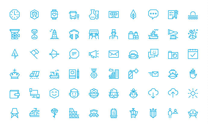 100 Free Angular Icons