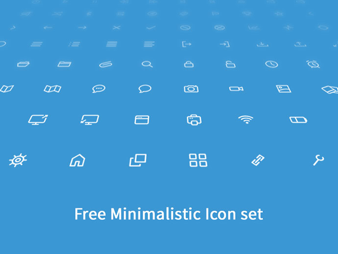 Free Minimalistic Icon Set
