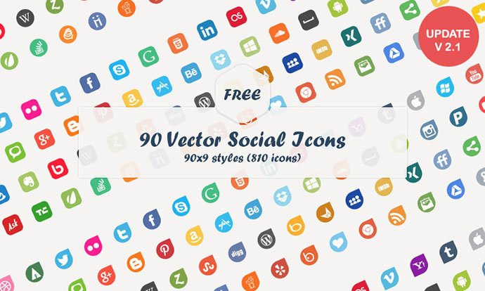 Social Media Vector Icons (Freebie)