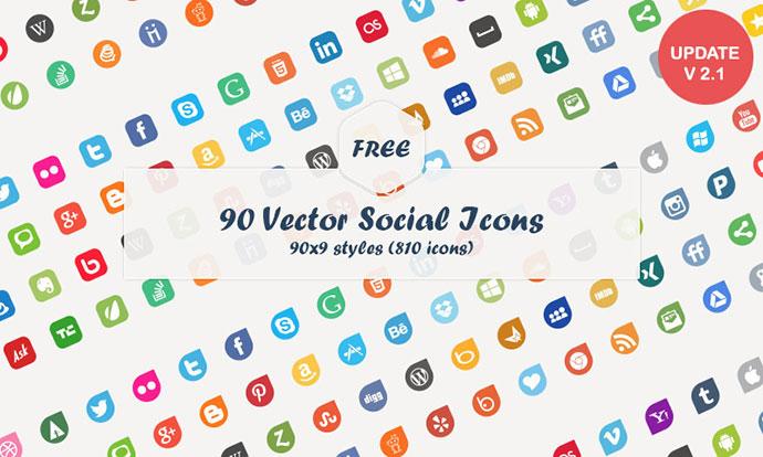 Social Media Vector Icons (Freebie)