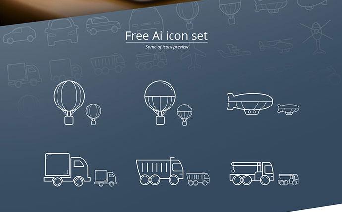 Transport icon set (free)