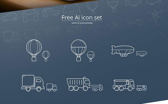 Transport icon set (free)