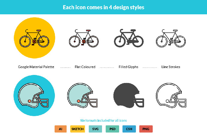 Freebie: Responsive Sports Icon Set