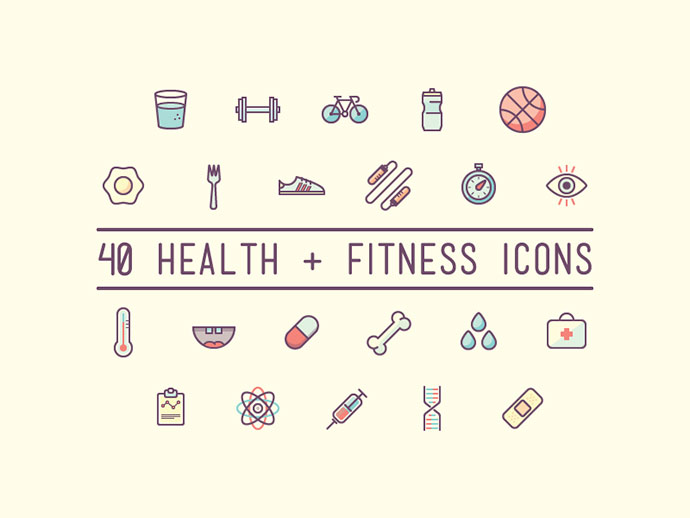 Health & Fitness Icons (download)