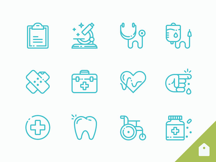 Medical Icons Freebie