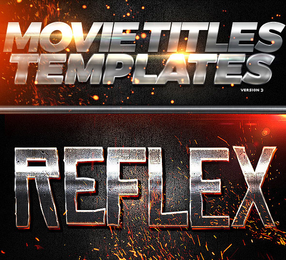 Movie Titles PSD Template 3
