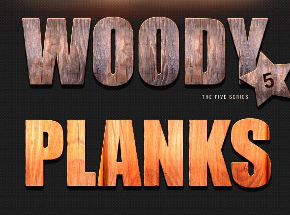 Varios efectos de texto Vol.3 - estilos de madera