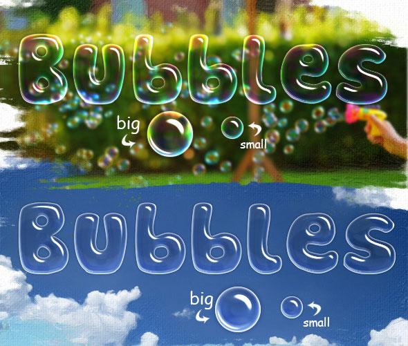 Burbujas y tipos de agua.