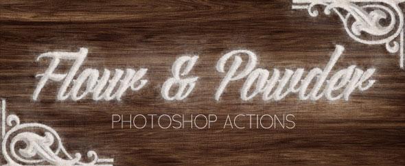 Harina y Polvo - Promociones de Photoshop