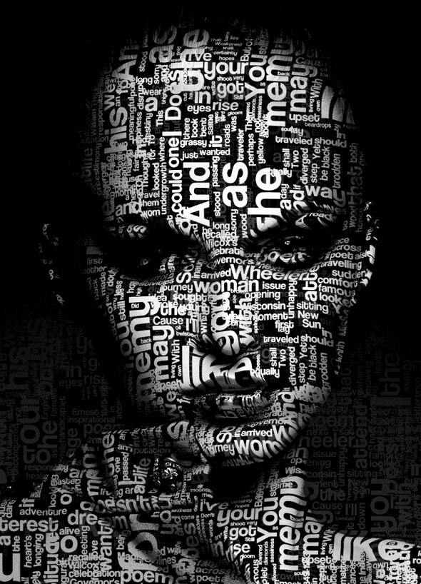 Acción de Photoshop Typo Portrait Pro
