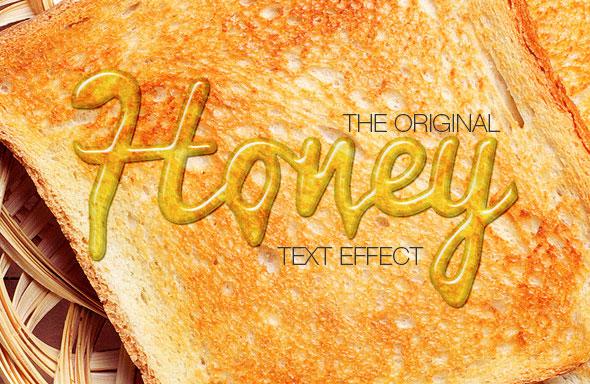 Efecto de texto de miel / generador