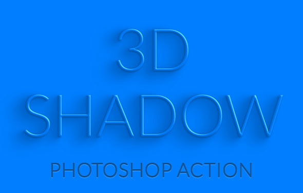 how to make 3d text shadow in photoshop