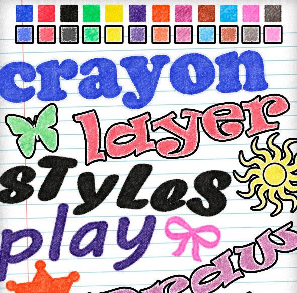 24 estilos de lápices de colores