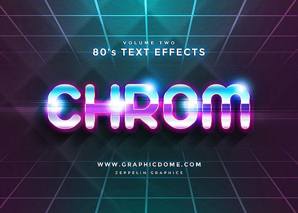 Efectos de texto de los 80