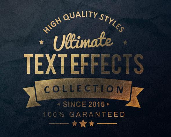 Colección definitiva de efectos de texto