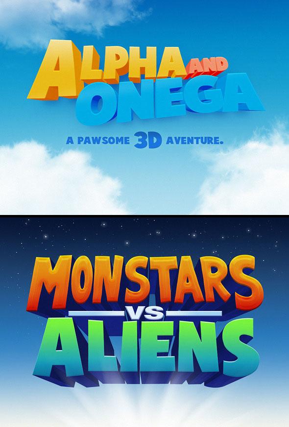 3D Cartoon Text Effects Vol.1