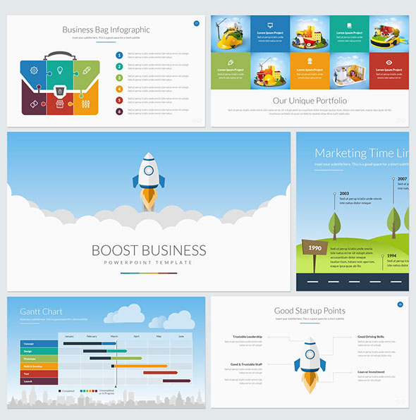 Boost Business PowerPoint Template
