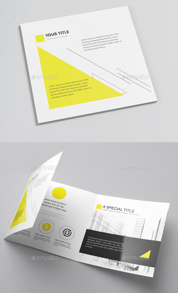 Flyer Template Engineering Yellow