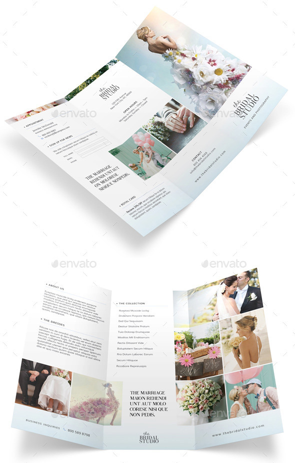 Bridal Studio Trifold Brochure
