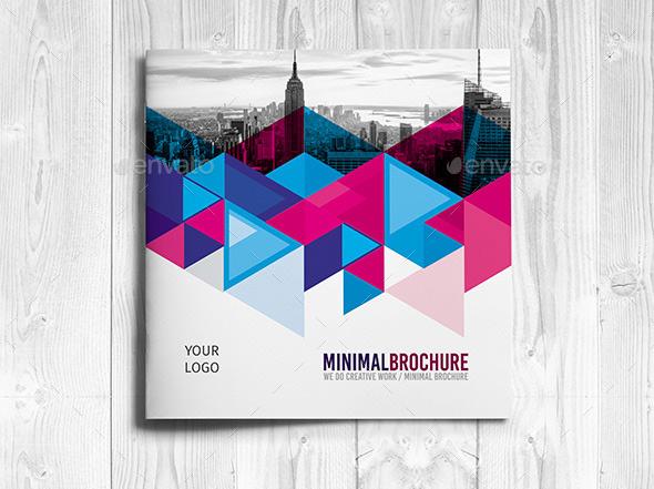 Minimal Square Tri-Fold Brochure