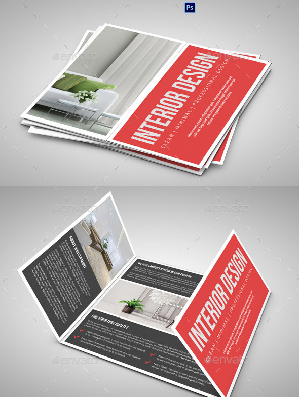 Square Gate fold Brochure-Interior Design