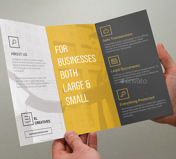 Minimal Corporate Trifold Brochure - 03