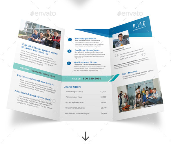 Top PSD Brochure Template Designs Web Graphic Design - High school brochure template