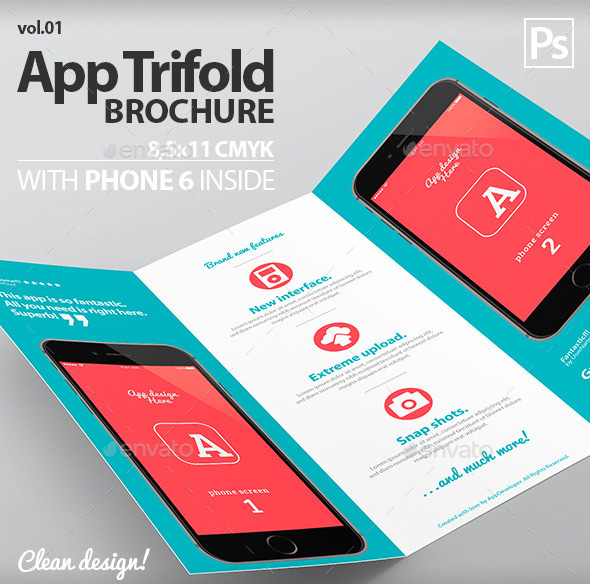Mobile App Trifold Brochure vol.1