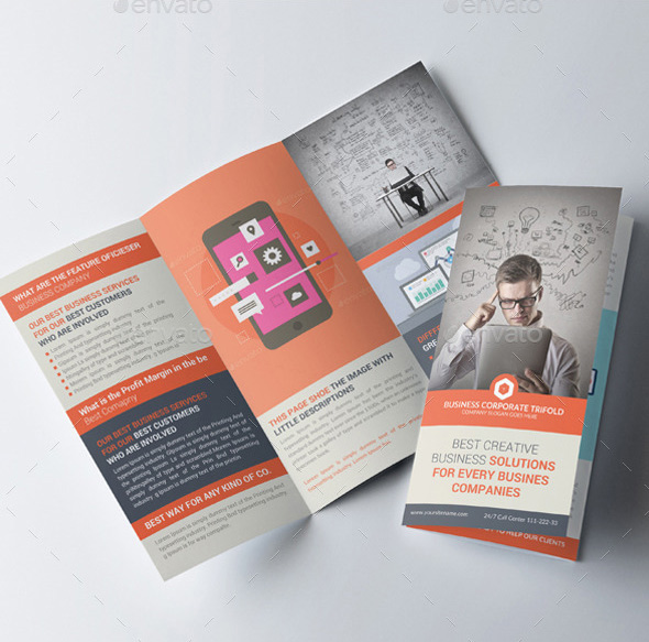 website design agency trifold brochures bundle