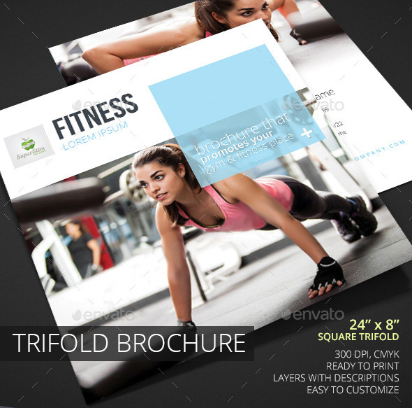 Fitness Square Trifold Brochure