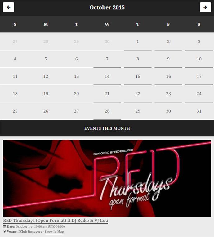 facebook event calendar plugin