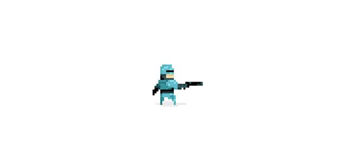 TinyCop CSS Pixel Art